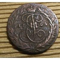 Монеты РИ  ++ 2 копейки 1765г. ММ. (Екатерина II )  ++