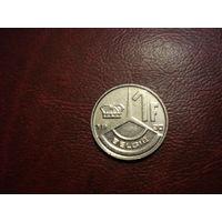 1 франк 1990 года Бельгия