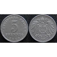 YS: Германия, 5 пфеннигов 1919A, KM# 19 (2)