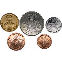 Свазиленд набор 5 монет 2007-2011