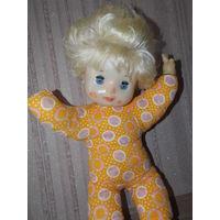 Кукла СССР мягконабивная, большая красивая советская кукла