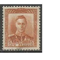 Новая Зеландия. Король Георг VI. 1938г. Mi#237.