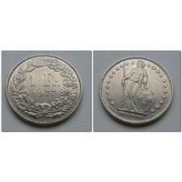 1 франк Швейцария 1977 год, KM# 24a.1 FRANC, из коллекции