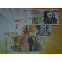 Словения 10-20-100 толаров 1992г.