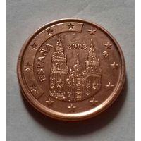 1 евроцент, Испания 2008 г.