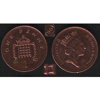 Великобритания _km935a 1 пенни 1993 год (обращ) (вар1)магн (h01)