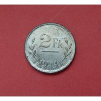2 франка 1944 Бельгия