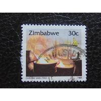 Зимбабве 1995г. Литьё хрома.
