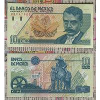 """Распродажа коллекции. Мексика. 10 новых песо 1992 года (P-99a.15 - 1992.12.10 """"Nuevos Pesos New Design"""" Issue)"""