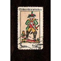 Марка Чехословакии- 1984 -Игральные карты