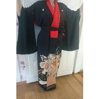 Кимоно женское 30-40 годы. Шелк. Ручное шитье. Батик, вышивка.