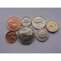 Остров Святой Елены. набор из 7 штук: 1 пенни 2,5,10,20,50 пенсов 1 фунт  c 1991 по 2006 год