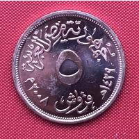 76-02 Египет, 5 пиастров 2008 г.