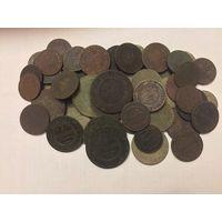 Монеты Николая 2, 59 штук