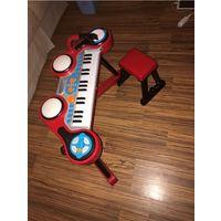 Музыкальная установка синтезатор в комплекте со стулом ELC