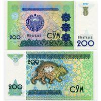 Узбекистан. 200 сум (образца 1997 года, P80, UNC) [серия BM]