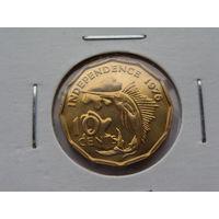 """Сейшельские острова. 10 центов 1976 год  КМ#23  """"Рыба-меч"""""""