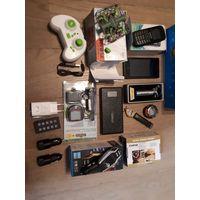 Лот всякой полурабочей техники, аксессуаров: телефон, дрон, квадракоптер, модулятор, ЗУ, АЗУ, часы, велокомпьютер и пр