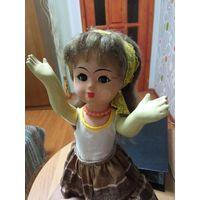 Кукла СССР молдованка или цыганка, всё тело и голова папье Маше, прес опилки, редкая, большая, распродажа коллекции