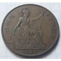 Великобритания 1 пенни, 1929            ( 3-3-5 )
