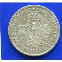 Великобритания 2 шиллинга 1943, серебро, Georg VI. Лот 3