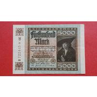 5000 Марок -1922- ГЕРМАНИЯ - III Рейх -а-