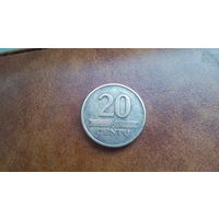 Литва 20 центов 1997 года