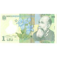 YS: Румыния, 1 лей 2005 (2014), P# 117i, пластик, XF