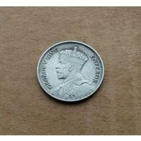 Новая Зеландия, 6 пенсов 1933 г., Георг V (1910-1936), серебро