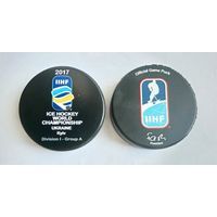 Хоккей - Официальная игровая шайба IIHF ЧМ 2017 I див.,гр.А Киев, Украина