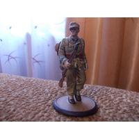 Солдат, солдатик Вермахта,Третий рейх.Африканский корпус. Германия (олово).