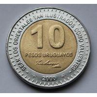 Уругвай, 10 песо 2000 г.