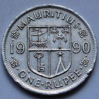1 рупия 1990 МАВРИКИЙ
