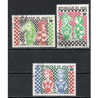 Шахматы Мали 1977 год серия из 3-х марок
