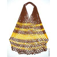 """Сетчатая сумка """"Коричнево-жёлтая"""""""
