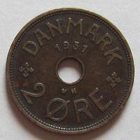 Дания, 2 эре 1931 г
