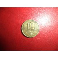 10 центов 1997 Литва