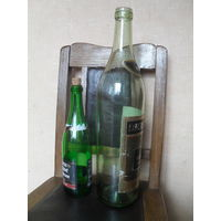 "Огромная бутылка из под коньяка "" NAPOLEON "". 3 литра."