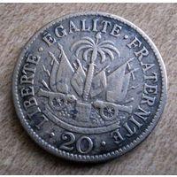 Гаити. 20 сантимов 1907 г.