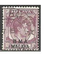 Малайя(Британская военная администрация). Король ГеоргVI. Пальмы. 1945г. Mi#7а.