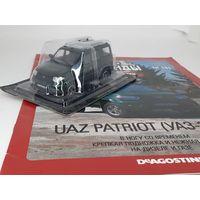 1:43 UAZ Patriot (УАЗ-3163), Автолегенды СССР 283, темно-зеленый AL283 / DeAgostini