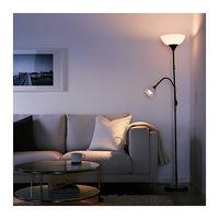 Торшер Икеа Ikea НУТ лампа для чтения. Черный.  Обеспечивает общее и направленное освещение – лампы можно включать и выключать по отдельности.н