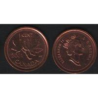 Канада _km289 1 цент 2001 год (-) (f33)