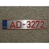 Автомобильный номер Эстония AD-3272