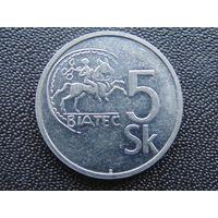 Словакия 5 крон 1993 г.