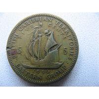 Восточные Карибы 5 центов 1956 г.