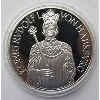 Австрия 100 шиллингов 1991 Рудольф I - серебро 20 гр. 0,900