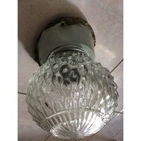 Люстра светильник настенный СССР с плафоном