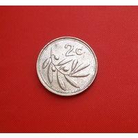 33-08 Мальта, 2 цента 1986 г. Единственное предложение монеты данного года на АУ