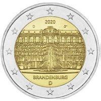 2 евро 2020 Германия Дворец Сан-Суси в Потсдаме D UNC из ролла